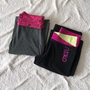 2 pairs Aero Yoga Pants EUC